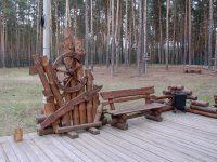 стилизованная скамейка